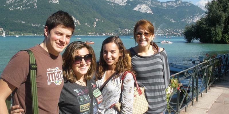 Vista sul lago di Annecy