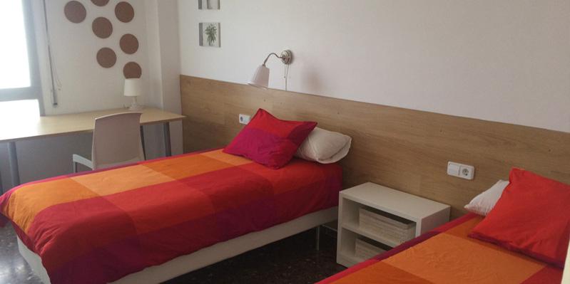 Camera da letto in un appartmento condiviso