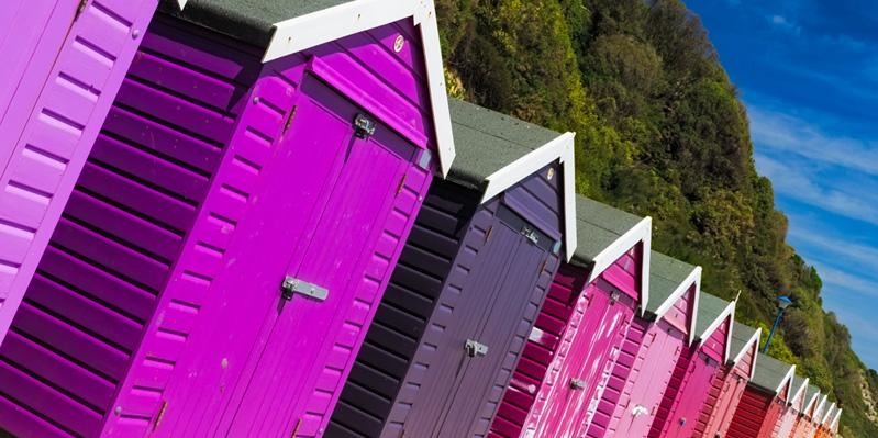 Cabine sulla spiaggia di Bournemouth